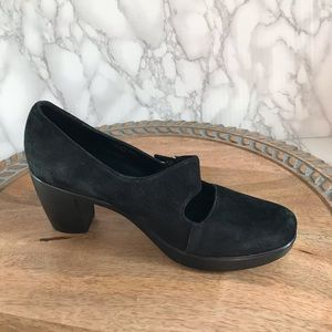Dansko Tara Black Leather Suede Mary Jane …